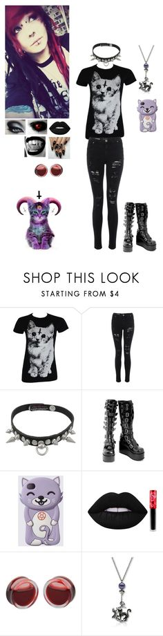 """""""demon kitty"""" by dreadful-glassheart ❤ liked on Polyvore featuring Lime Crime"""