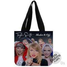 Taylor Swifts Shake It Off Collage New Hot, handmade bag, canvas bag, tote bag