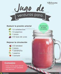 Hábitos Health Coaching | JUGO DE VERDURAS PARA REDUCIR LA PRESIÓN ARTERIAL / MEJORAR LA CIRCULACIÓN
