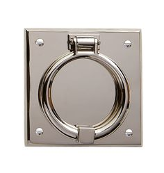 Ring On Beveled Square Door Knocker  C5904