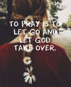 """Let go of control, and know that God is in control. This is the first step to serenity in your life. Stress relief always starts with letting God be God. It always starts with saying, """"God, I'm giving up control, because you can control the things that are out of control in my life."""" """"Don't worry about anything; instead, pray about everything. Tell God what you need, and thank him for all he has done"""" (Phil 4:10"""