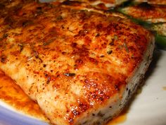 I made this the other night... My bf doesn't eat seafood but he loved this...ect -- Lemon Thyme Mahi Mahi