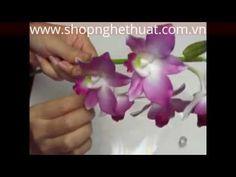Hướng dẫn cách làm hoa đất sét Nhật Bản - Lan Hồ Điệp Trắng P1 - YouTube