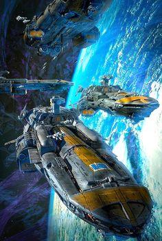 Cobra Wars Spaceships by Dave Seeley #spaceships #spacecraft #scifi #CobraWars #DaveSeeley
