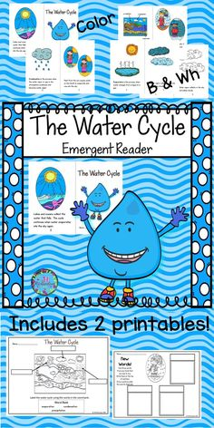 This diagram of the water cycle is interactive click parts for water cycle emergent reader will be a great addition to your book boxes included8 page booklet in color and black and white water cycle ccuart Gallery