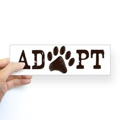 Adopt an Animal Bumper Sticker on CafePress.com