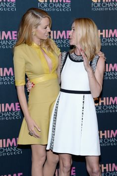 Blake Lively and Frida Giannini celebrating Chime for Change first anniversary in New York City