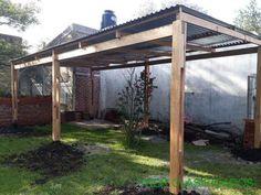 hacer tejaban de madera - Buscar con Google Pergola, Outdoor Structures, Google, Home Layouts, Outdoor Pergola