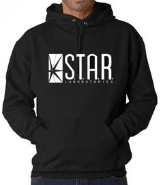 The Flash DC Barry Allen Laboratories Star Labs Hooded Sweatshirt