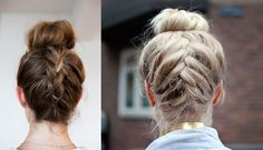 Adding an upside down french braid to your bun will really transform this look and create a statement style. Description from dirtylooks.com. I searched for this on bing.com/images