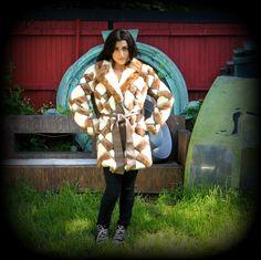 60s Palomino & Pastel Mink Fur Wrap Jacket by RenegadeRevival, $389.99