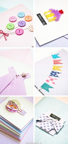 Craft & Creativity – Pyssel & DIY Pyssel, inspiration, DIY, inredning, fotografering Page 2 Cute Cards, Diy Cards, Tarjetas Diy, Diy And Crafts, Paper Crafts, Karten Diy, Make Your Own Card, Creative Cards, Scrapbook Cards