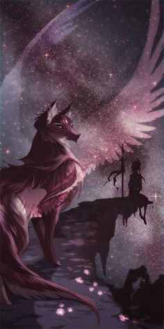 Chantrea - One of Moon-Clan leaders When a Wolf-Clan mate dies, he go to thr Moon-Clan. (Like in Warrior Cats the Star-Clan Anime Wolf, Pet Anime, Anime Animals, Arte Furry, Furry Art, Fantasy Wolf, Fantasy Art, Magical Creatures, Fantasy Creatures