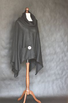 Hey, I found this really awesome Etsy listing at https://www.etsy.com/listing/199401675/knit-poncho-black-poncho-black-scarf