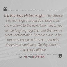 Marriage Meteorologist