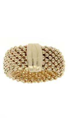 Yellow Gold Classic Mesh Ring.