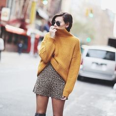 It's one of trickiest shades to wear, but we can't help but love this hue of the season  #Mustard #AW15 #FashionTrends #OOTD as seen on #FashionBlogger #WeWoreWhat  Browse our article on sheerluxe.com for the best #Mustard pieces to wear now...
