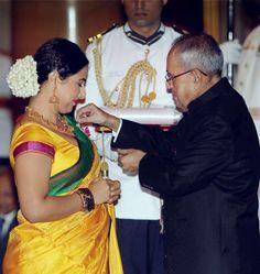 Vidya Balan received the Padma Shri Award