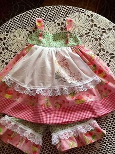 Check out this item in my Etsy shop https://www.etsy.com/listing/227201708/strawberry-shortcake-apron-dress
