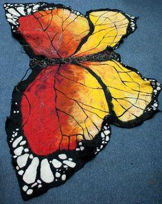 Nuno felted butterfly shawl by WoolWorldByMarta on Etsy