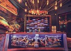 Bunch Of Artists Unite To Design The Interior Of This Surreal Bar And The Details Are Incredible