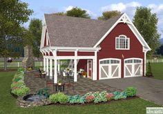 Garage, Garage w/apartments House Plans - Home Design 2 car Garage