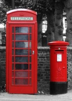 Red Letter and phone Box. Very British.