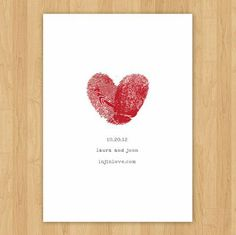 I'm not getting married, but I thought this was such a neat idea with both of the fingerprints. Save the Date Cards...