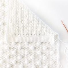 crochet polka dot blanket