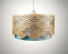 lampshade made of wood with cut-outs - min-jon