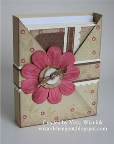 Wizard's Hangout: Criss-Cross Card Box Tutorial