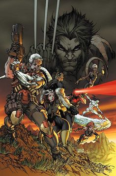Love this cover of Cable, Wolverine and the X-Men by the Michael Turner