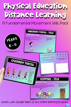 Physical Education Distance Learning - A Fundamental Movement Skills Pack School Resources, Learning Resources, Teacher Resources, Physical Education Activities, Pe Activities, Pe Lessons, Pe Teachers, Blended Learning, Teacher Tools