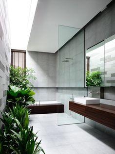 Greenbank Park, HYLA Architects  Bathroom   Green   Contemporary Design   Nature #nakedenvironment