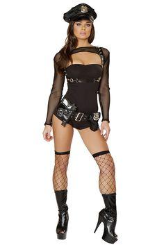 Bad Cop Tube Romper Costume Set