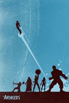 Amazing minimalist #Avengers poster