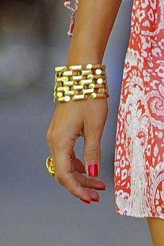 Olivia Palermo Style 2013 Gold Bracelet Pink Paisley Dress Sofia Coppola Louis Vuitton Bag-04