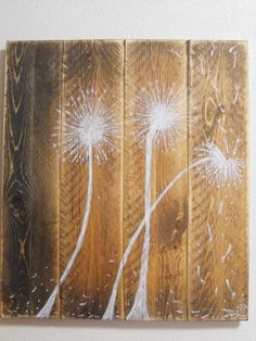 """Small Dandelions in the Wind: a 16"""" x14"""" smaller version of my popular painting. $25.00, via Etsy."""