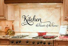 Kitchen Decor - Kitchen Wall Decal - Kitchen Decals - Heart of the Home - Kitchen Decor - Kitchen Wine Quote - Kitchen Vinyl Decal - Vinyl Kitchen Wall Decals, Kitchen Vinyl, New Kitchen, Awesome Kitchen, Kitchen Redo, Kitchen Tips, Removable Wall Decals, Vinyl Wall Decals, Wall Stickers