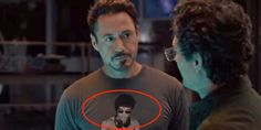(partial) SPOILER ALERT! Check out how Robert Downey Jr. got this awesome t-shirt into the new Avengers: Age of Ultron movie!