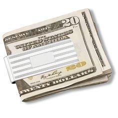 Fancy Striped Men's Money Clip Sterling Silver - Allurez.com