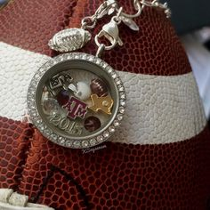 #Texas A&M officially licensed #collegiate #charms for floating #lockets available 9/1 #football #Aggies #TAMU