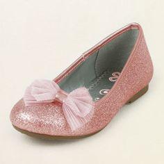 glitter bow ballet flat