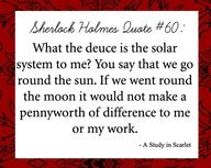 Sherlock Holmes Quote - A Study in Scarlet