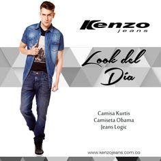 #Look de vacaciones, combina prendas de jean en la parte superior e inferior y crea un #outfit denim sobre denim. Conoce más en www.kenzojeans.com.co