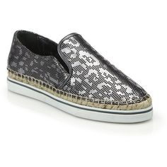 Jimmy Choo Dawn Perforated Leopard Metallic Leather Sneakers ($570) ❤ liked on Polyvore featuring shoes, sneakers, apparel & accessories, steel, leopard print sneakers, espadrilles shoes, leopard espadrilles, platform sneakers y leopard platform sneakers