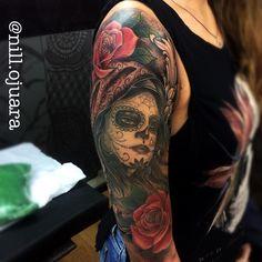 #mulpix Hj finalizamos a tattoo da @esterseles_ muito obrigado mais uma vez ,depois posto uma foto Cicatrizada  #tatuagem  #tattoolife  #tattoo  #art  #catrina  #rangeltattoostudio  #catrinatattoo