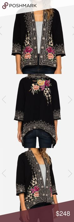 NWT Johnny Was Embroidered Boho Drape Cardigan ❣️Details to follow Just arrived❣️ Johnny Was Jackets & Coats Blazers