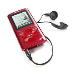 Sony Walkman  8GB MP3 Player Red Up To 50 Hours Of Music Playback Free Shipping
