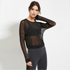 Transparent Blouse Women Sexy O-Neck Long Sleeve Blouse Loose Shirts Black Tops